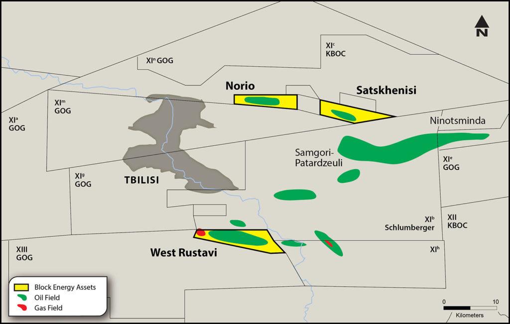 West Rustavi, Norio, Satskhenisi licence map